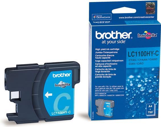 Картридж Brother LC1100_HYC голубой оригинальный