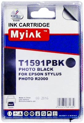Картридж совместимый MyInk T1591 черный для Epson