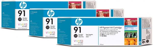 Картридж HP C9481A черный фото тройная упаковка оригинал