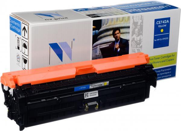 Картридж совместимый NV Print CE742A желтый для HP
