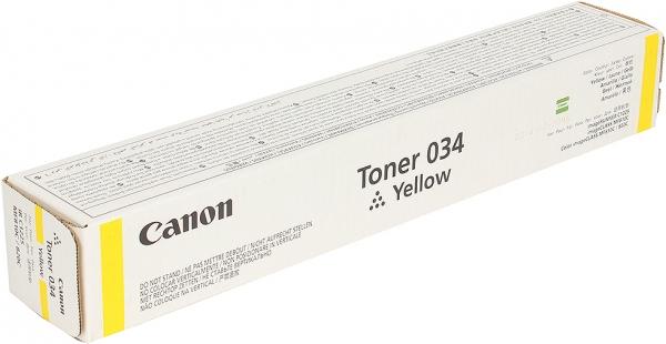 Тонер-картридж Canon 034 желтый оригинальный