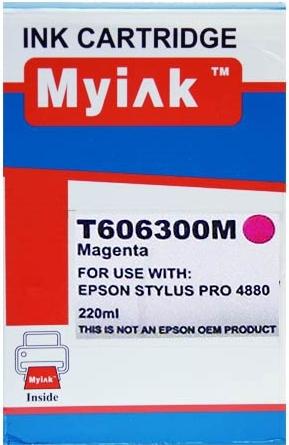 Картридж совместимый MyInk T6063 красный для Epson