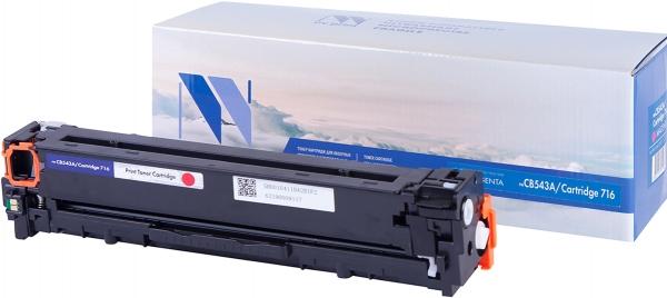 Картридж совместимый NVPrint CB543A/716 для HP и Canon пурпурный