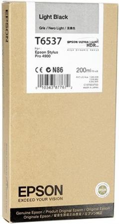 Картридж EPSON 13T653700 серый оригинальный