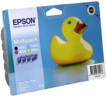 Картридж EPSON T055640A0 четырехцветный оригинальный
