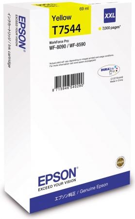 Картридж EPSON T7544 (C13T754440) желтый оригинальный