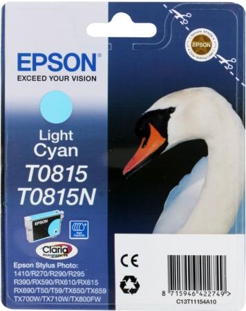 Картридж для Epson T0815 светло-голубой оригинальный