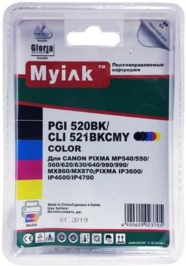 Картридж совместимый MyInk PGI-520BK черный для Canon