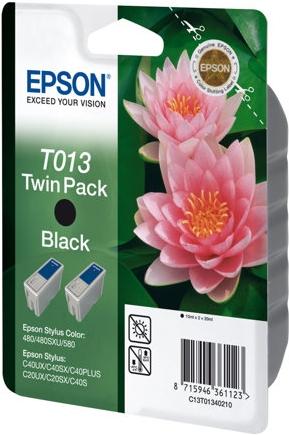 Картридж EPSON T013 черный оригинальный двойная упаковка