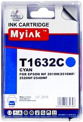 Картридж совместимый MyInk T1632 синий для Epson