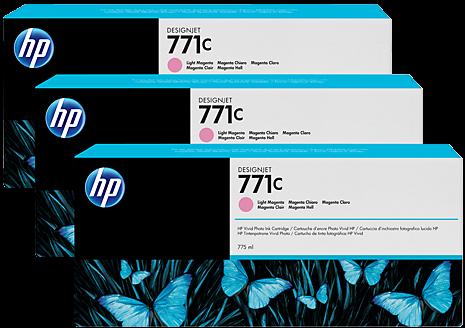 Картридж HP B6Y35A светло-пурпурный оригинальный тройная упаковка