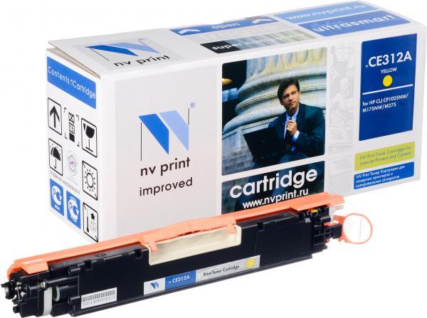 Картридж совместимый NV Print CE312A желтый для HP