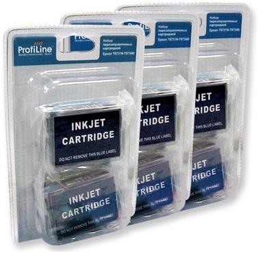Картриджи перезаправляемые совместимые ProfiLine T08014-T08064 для Epson
