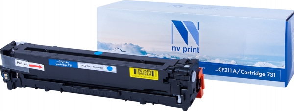 Картридж совместимый NVPrint CF211A/ CANON 731 для HP и CANON голубой