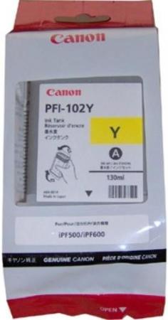Картридж Canon PFI-102Y желтый оригинальный