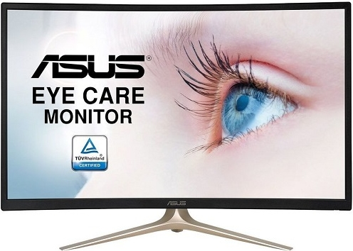 "Монитор 31.5"" ASUS VA327H Black-Gold Сurved"