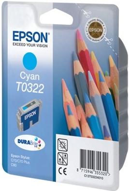 Картридж EPSON T0322 голубой оригинальный