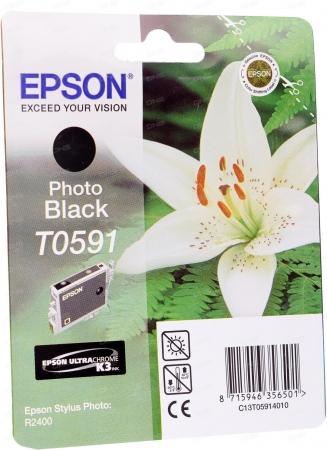 Картридж струйный Epson T0591 (C13T05914010) оригинальный