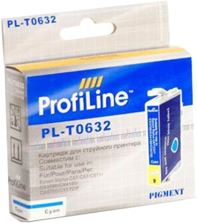 Картридж совместимый ProfiLine 0632 для Epson голубой