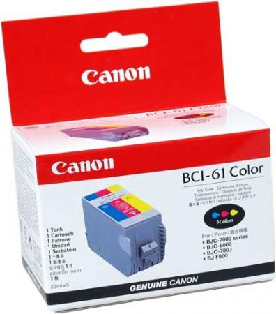 Картридж CANON BCI-61 трехцветный оригинальный