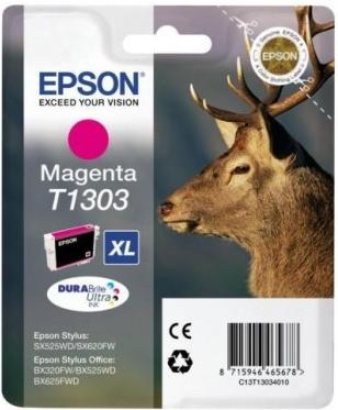 Картридж EPSON T13034010 пурпурный оригинальный
