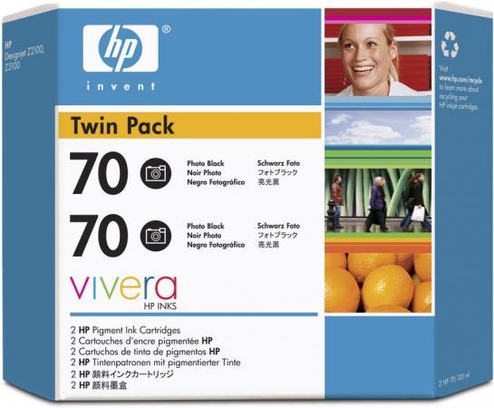 Картридж HP № 70 черный фото двойная упаковка оригинальный