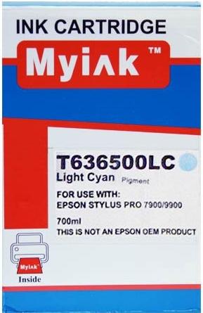Картридж совместимый MyInk T6365 светло синий для Epson