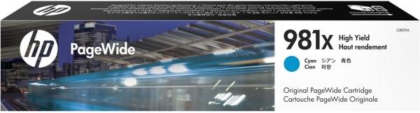 Картридж для HP L0R09A 981X голубой оригинальный