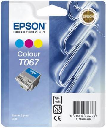 Картридж EPSON T067040 трехцветный оригинальный