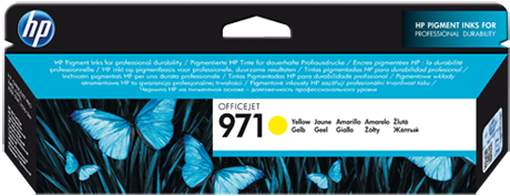 Картридж HP 971 желтый оригинальный