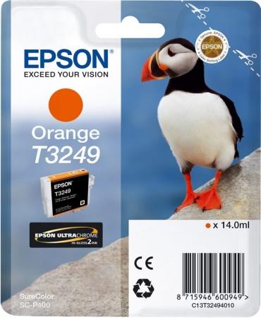 Картридж EPSON T3249 (C13T32494010) оранжевый оригинальный