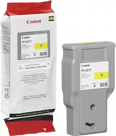 Картридж Canon PFI-207Y желтый оригинальный