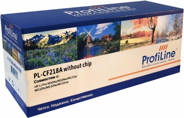 Картридж совместимый Colouring CF218A черный для HP (без чипа)