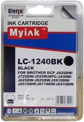 Картридж совместимый MyInk LC1240BK черный для Brother