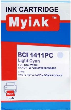 Картридж совместимый MyInk BCI-1411PC синий для Canon
