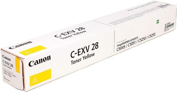 Тонер-картридж Canon C-EXV28 желтый оригинальный