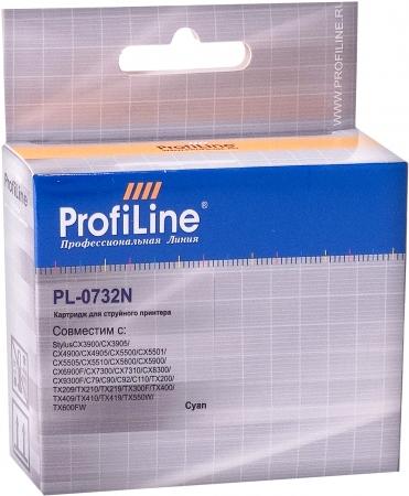 Картридж совместимый ProfiLine 0732N для Epson голубой