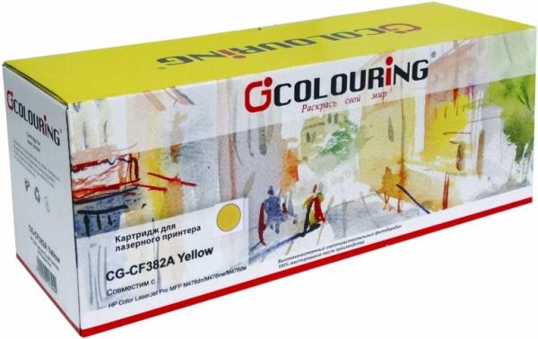Картридж совместимый Colouring CF382A для HP желтый