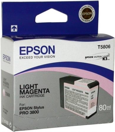 Картридж Epson T5806 (C13T580600) светло-пурпурный оригинальный
