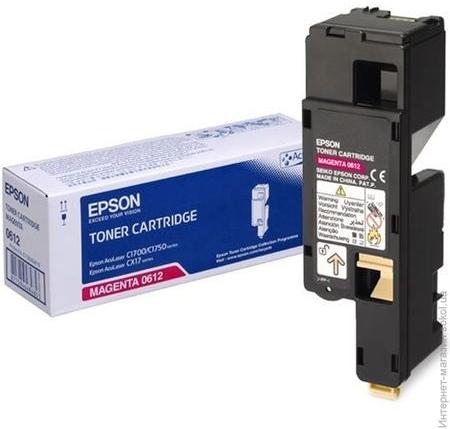 Картридж EPSON C13S050612 пурпурный оригинальный