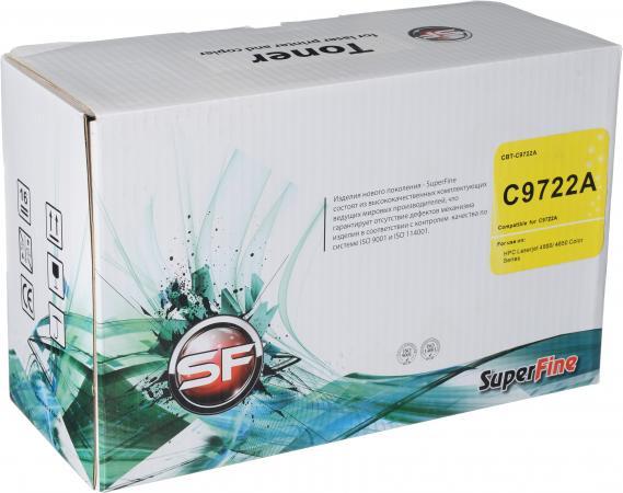 Картридж совместимый SuperFine C9722A желтый для HP