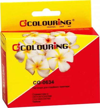 Картридж совместимый Colouring 0634 для Epson желтый