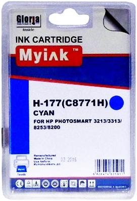 Картридж совместимый MyInk C8771H синий для HP