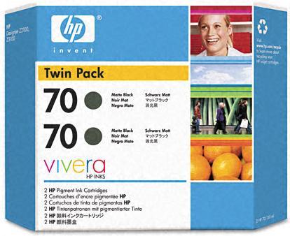 Картридж HP № 70 черный матовый двойная упаковка оригинальный