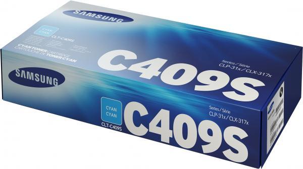 Картридж Samsung CLT-C409S голубой оригинальный