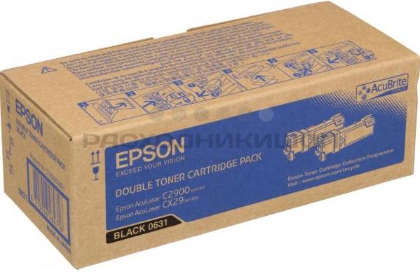 Картридж EPSON 0631 (C13S050631) чёрный оригинальный (2х3,000 стр.)