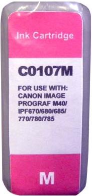 Картридж совместимый MyInk PFI-107M красный для Canon