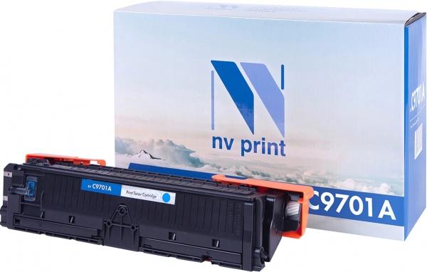 Картридж совместимый NVPrint C9701A для HP голубой