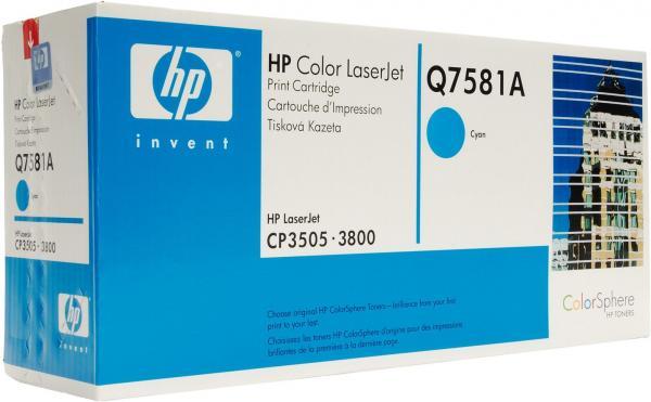 Картридж HP Q7581А голубой оригинальный