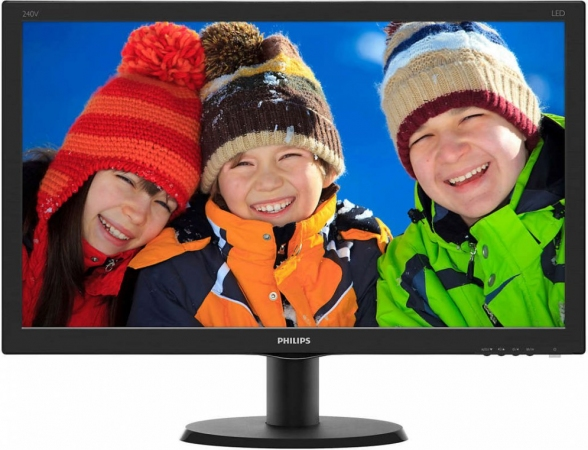 "Монитор 23.8"" Philips 240V5QDAB/00(01) Black"